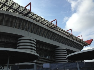 The San Siro, home of Italian soccer clubs AC Milan and Inter Milan.